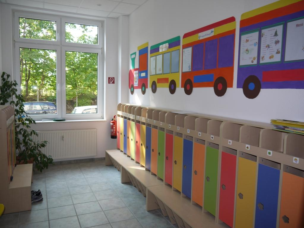 Garderobe center lingual gug for Garderobe kindergarten